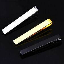 Gentleman Gold Silver Metal Simple Practical Plain Necktie Tie Clip Bar Clasp
