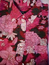 GANT-Bluse wie NEU Seide Baumwolle 38 Milles Fleurs Weiß Rosa Pink Damen-Hemd