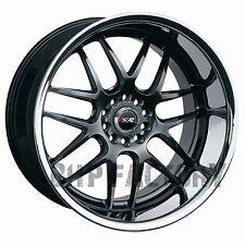 """XXR 526 18"""" X 10.5J ET20 5x114 5x120 Chrome Noir DEEP DISH large wheels Z1466"""