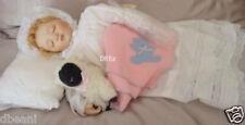 Victorian Porcelain Doll w Pillow Blanket & Lamb Set Gay Talbott Boassy NIB