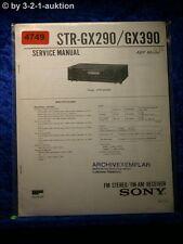 Sony Service Manual STR GX290 /GX390 FM/AM Receiver (#4749)