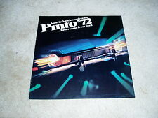 1972 Ford Pinto Runabout Wagon sedan sales brochure dealer literature