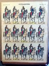 Imagerie Pellerin d'Epinal Cuirassiers  N°86 primi 900 Soldatini di Carta