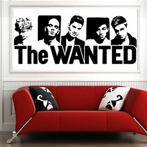 THE WANTED vinyl wall art music sticker bedroom room decal
