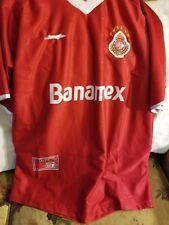 TOLUCA MEXICO SOCCER JERSEY - LARGE/XL - CORONA