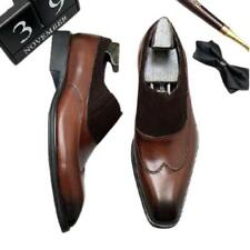 Mens Pointy Toe Oxfords Work Office Casual Low Top Real Leather Business Shoes L
