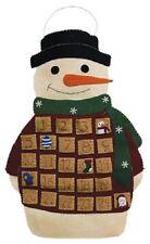 Cute, SMILING SNOWMAN Christmas COUNTDOWN Advent CALENDAR, NEW!