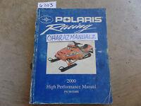 2000 Polaris High Performance Service Manual OEM