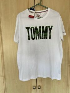 New Tommy Hilfiger Mens Large White T Shirt
