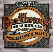 Ernie Ball Earthwood Phosphor Bronze Acoustic Strings 12-54 2146, Medium Light