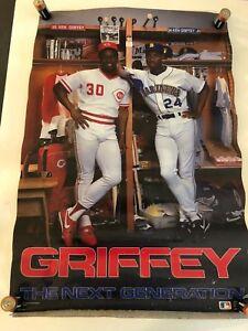 "1989 VINTAGE COSTACOS POSTER KEN GRIFFEY JR - ""NEXT GENERATION"" - ROOKIE SEATTLE"