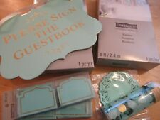 Celebrate It Mint Banner Guestbook Sign Name Place Cards Dollies Confetti New