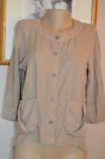 CANNISSE FLAX BUTTON FRONT 100% LINEN TAILS SHIRT/ BLOUSE, sz us 6-8