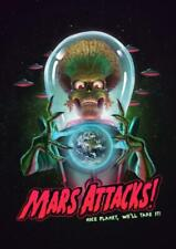 Mars Attacks Movie 1996 Poster High Quality Unframed Home Decor Poster