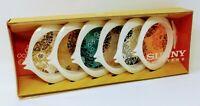 Vintage Sunny Coasters Fish Shaped Set of 6 NOS NIB 1960's MCM Barware Rare Fun