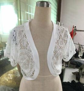 Women's Lace Chiffon Short Sleeve Bolero Shrug Tops Ladies Cardigan Plus Size