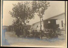 ALGERIE LAGHOUAT PHOTO PENITENTIER PRISON BAGNE JAIL SOUPE DE MIDI DETENUS 1904