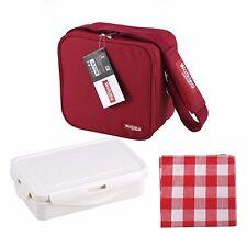 Bergner Porta Rojo Poliéster Portacomidas Bag Picnic bolsa con correa para el Hombro