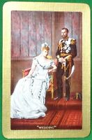 Playing Cards 1 Single Swap Card Vintage KING GEORGE V QUEEN MARY Royal WEDDING