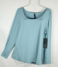 New Women's 90 Degree Reflex Blue Splash Yoga Top Blouse Shirt 1X NWT