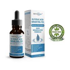 Glycolic Acid 70% AHA+ Pure ORGANIC Hyaluronic+Chamomile SKIN RESURFACING Serum
