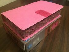 *No Box* NIV Rock Solid Faith Study Bible for Teens- $44.99 Retail- Pink DuoTone
