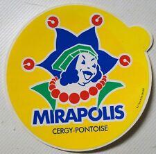 ★★★Autocollant/sticker/aufkleber MIRAPOLIS CERGY PONTOISE 1989 ★★★