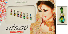 Multi-Color Traditional Bindi Indian Wedding Designer Body Tattoo 7 Nos (KB725)