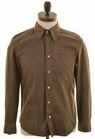 DIESEL Mens Shirt Small Green Cotton  CH01
