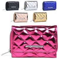 Ladies Mock Patent Leather Quilted Bridal Party Purse Wallet Handbag M1081-322
