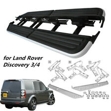 Pair Running Boards Side Steps for Land Rover Discovery 3 / 4  + Fitting Kits