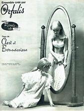 PUBLICITE ADVERTISING 036  1965  Clert & Bonnassieux sous vetements lingerie Ofa