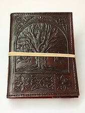 Handmade Leather Book of Shadows ~ Handmade Paper ~ BrownTree of Life Design