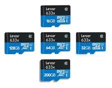 Lexar 16GB 32GB 64GB 128GB 256GB Micro SD SDHC Micro SDXC lot TF 4K Class10 UHS