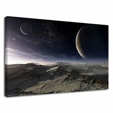 Eclipse And  Spaces For Using In Bedroom  Canvas Wall Art Picture Print