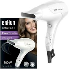 Braun Satin Hair 1 HD180 Hair Dryer PowerPerfection Ultra Light 1800W Compact