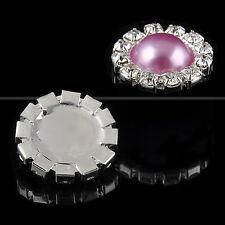 10pcs Round Rhinestone Pearl Wedding Rhinestone Button DIY Buckle Accessories
