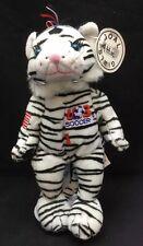 "USA Soccer #1 Tiger Black White Red Blue Plush 1999 Goal Girls Attic Ear Tag 9"""