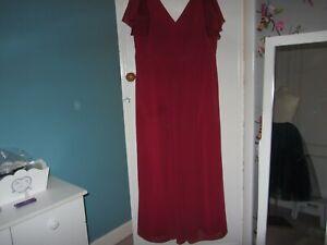 Social Bridesmaids red wine chiffon dress size 24
