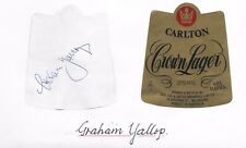 GRAHAM YALLOP - AUSTRALIAN CRICKET GREAT - HAND SIGNED BEER LABEL - CROWN LAGER