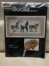 """Bucilla Stitchery """"Party Horses""""  7x18"""" Embroidery Kit Terrie Lee Steinmeyer"""