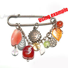 150x Wholesale Rhodium Plated Iron Kilt Safety Pins Brooch Arts&Crafts Finding J