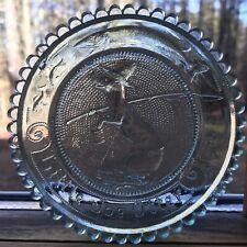 Little Joe Otter Thornton Burgess Vintage Pairpoint Glass Cup Plate Animal Decor