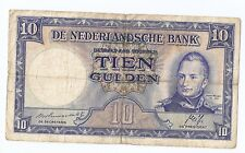 Netherlands 10  gulden 1945 King Willem I Data 1788-1843 Incorrect Rare!!!
