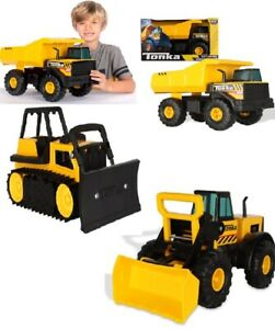 Tonka Steel Classics Mighty Dump Truck Front Loader Bulldozer for ages 3 years +