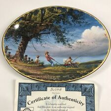 Terry Redlin May Seasons To Remember Spring Fever Calendar Plate Collection