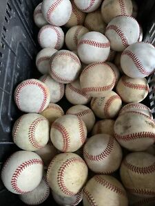 Lot of (32) Used Leather Baseballs with Defects (#2)
