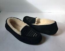 Ugg Ustralia Womens Slipper Moccasins Size 9  Black Bead Embellished 1012884