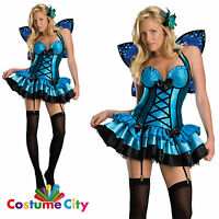 Womens Fantasy Fairy Fancy Dress Hen Night Party Costume with Wings & Garters