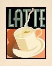 "A 10"" x 8"" Art Deco Print - Latte"